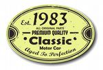 Distressed Aged Established 1983 Aged To Perfection Oval Design For Classic Car External Vinyl Car Sticker 120x80mm